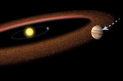 Die gewaltige Schwerkraft des Jupiter half dabei, den Asteroidengürtel zu formen.