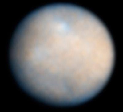 Der Kleinplanet Ceres - noch gibt es von ihm nur Aufnamen von erdbasierten Teleskopen.