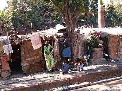 Straßenbewohner in Mumbai