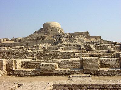 Blick auf das Zentrum von Mohenjo Daro