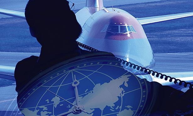 Jetlag - Langstreckenflüge in Ost-West-Richtung bringen die innere Uhr aus dem Takt