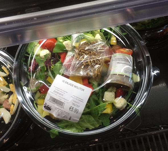 Salaat mit Mehlwürmern - in Belgien gibt es den sogar in normalen Delis. Aber für die meisten Europäer dürfte das zu ekelbehaftet sein.
