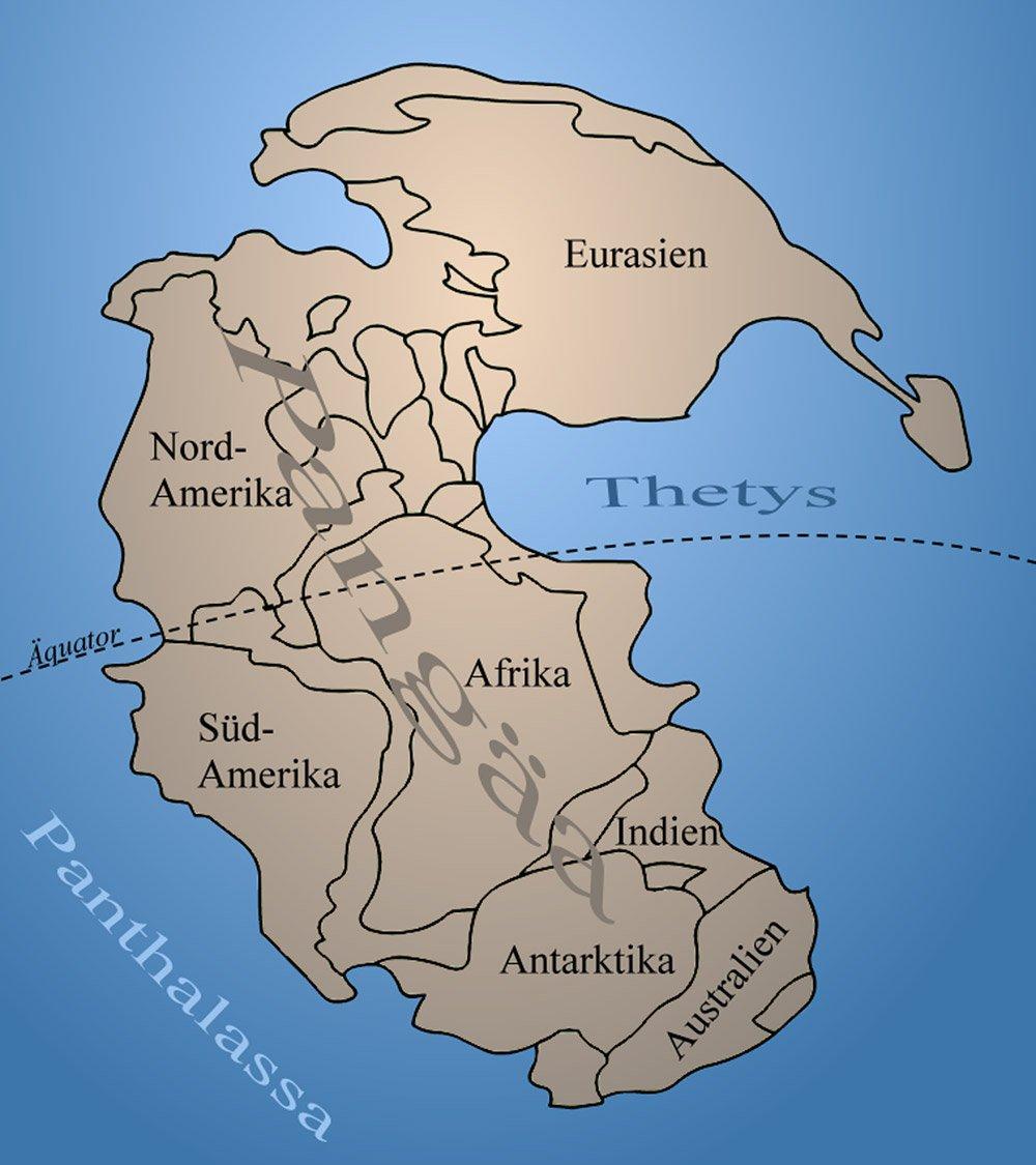 """Vor rund 250 Millionen Jahren sahen die Kontinente noch ganz anders aus. <span class=""""img-copyright"""">© en;User;Kieff /<a href=""""http://creativecommons.org/licenses/by/3.0"""" target=""""_blank"""" rel=""""noopener noreferrer"""">CC-by-sa 3.0</a></span>"""