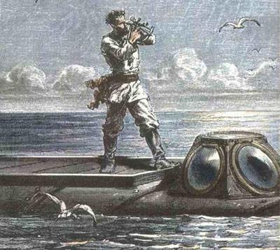Kapitän Nemo bei der Positionsbestimmung - naturwissenschaftliche Grundlagen vermittlte Verne quasi nebenbei