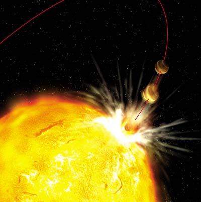 Hot Jupiter wird von Riesenstern verschlungen