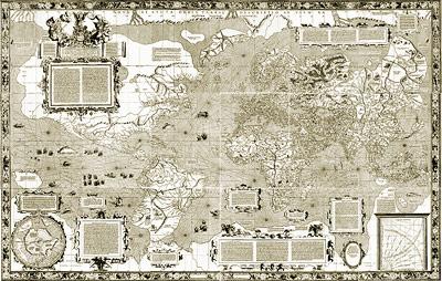 Erste Weltkarte von Mercator