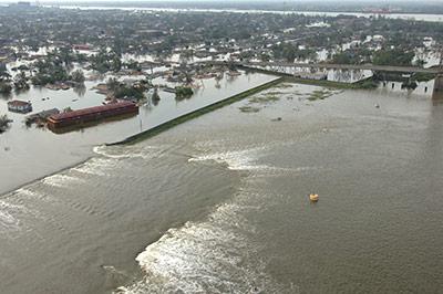 An den Küsten drohen vermehrt Überschwemmungen, hier in New Orleans nach Hurrikan Katrina