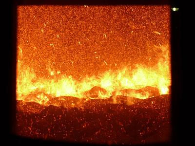 Die Verbrennung von Kohle setzt Treibhausgas frei