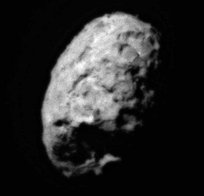 Aufnahme vom Kern des Kometen Wild 2