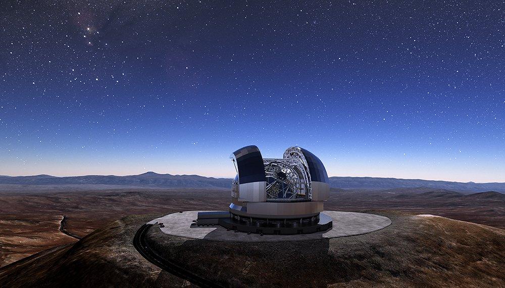 Wie schnell dehnt sich das Universum aus? Eine Antwort auf diese strittige Frage könnte bald das Extremely Large Telescope der Europäischen Südsternwarte liefern. © ESO/L. Calcada