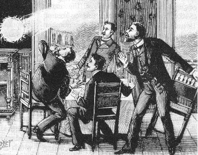 Kugelblitzdarstellung aus dem 19. Jahrhundert