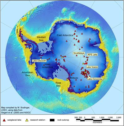 Untereisische Seen in der Antarktis