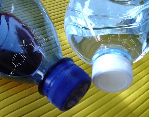 Plastikflaschen sind eine Quelle des Umwelthormons Bisphenol A.