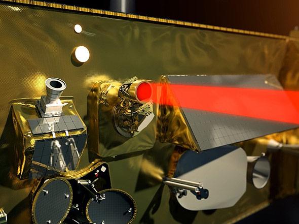 Der Satellit Alphasat I-XL kann per Laser bis zu 1,8 Gigabit Daten pro Sekunde übertragen