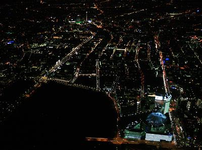 Blick auf Berlin bei Nacht