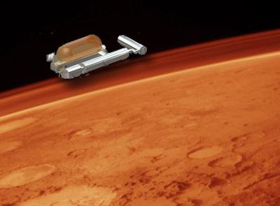 Die Container der Isolierstation repräsentieren ein Mars-Raumschiff