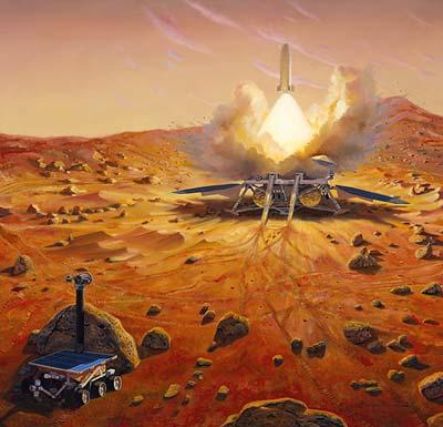 Sample-Return-Mission beim Wiederaufstieg der Sonde