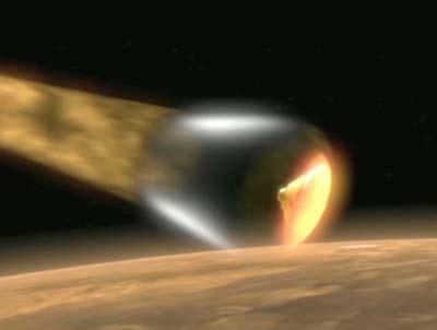 Phoenix nach Eintritt in die Marsatmosphäre