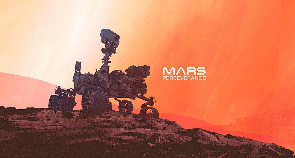Der Marsrover Perseverance ist das fünfte menschengemachte Gefährt auf dem Roten Planeten.© NASA/JPL-Caltech