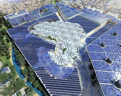 Masdar Plaza von oben