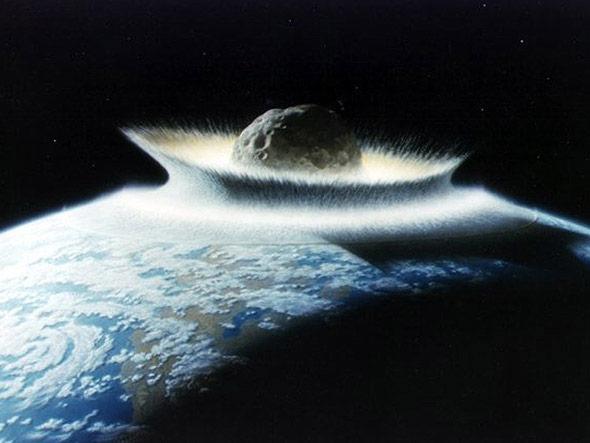 Ein großer Meteoriten-Einschlag ins Meer - oft ist ein Tsunami die Folge.