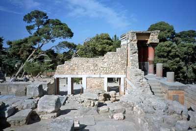 Überreste des minoischen Palastes von Knossos