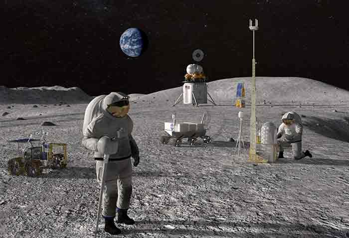 """<span class=""""img-caption""""> Bis wieder Astronauten auf der Mondpoberfläche umherlaufen, ist einiges an Aufwand und Kosten nötig.</span> <span class=""""img-copyright"""">© NASA</span>"""