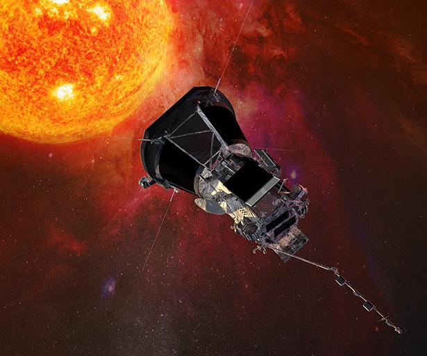 Flug in die Sonnenkorona: Die Parker Solar Probe wird der Sonne so nahe kommen wie noch keine Raumsonde vor ihr.