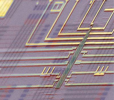 Nanoprozessor über Schaltkreis-Schema