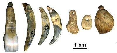 Von Neandertalern vor rund 40.000 Jahren hergestellter Körperschmuck
