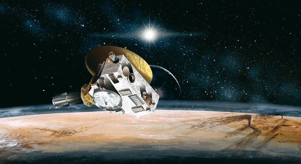 Vor fünf Jahren flog die NASA-Raumsonde New Horizons am Zwergplaneten Pluto vorbei – seither ist einiges passiert. © NASA/ JHUAPL/ SwRI