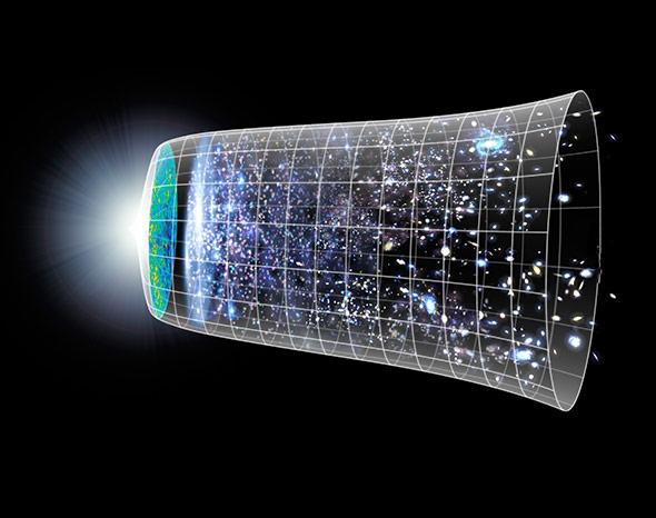 Kurz nach dem Urknall dominierte die Strahlung im noch jungen Universum, erst später entstand die erste Materie