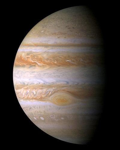 """Der Gasplanet Jupiter, aufgenommen von der europäisch-amerikanischen Raumsonde """"Cassini-Huygens"""""""
