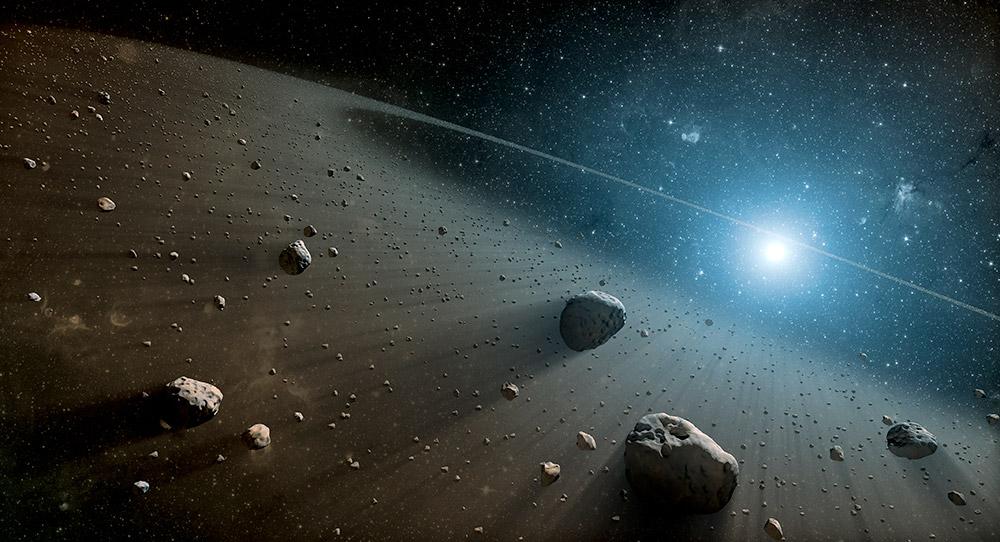 Planetesimale um eine junge Sonne – was bestimmt ihre Größe? © Mode_list/ Getty images
