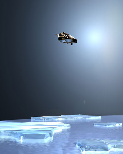 CryoSat fliegt auf einer besonders polnahen Umlaufbahn