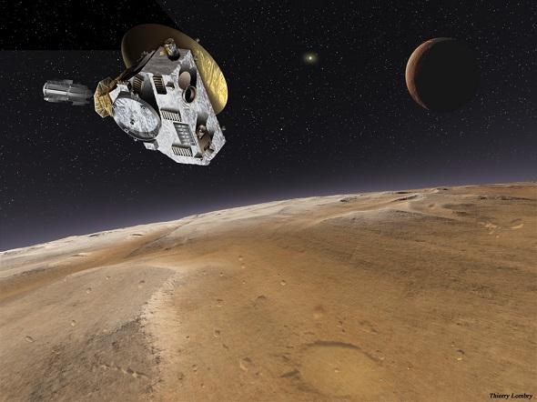 """Begegnung der Raumsonde """"New Horizons"""" mit Pluto und Charon"""