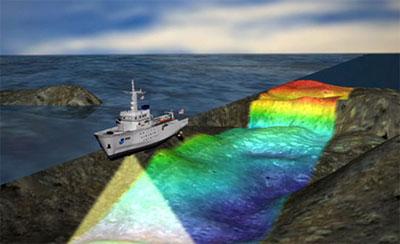 Multibeam-Sonar macht die einzigartigen Formen des Meeresbodens sichtbar