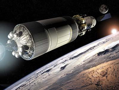 """Geplantes NASA-Raumschiff """"Orion"""" auf dem Weg zum Mond"""