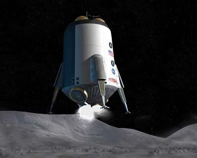 Noch Zukunftsvision: erneute Landung einer US-Raumfähre auf dem Mond