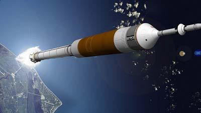 Ares-Trägerraktete bringt das Orion-Modul in den Orbit