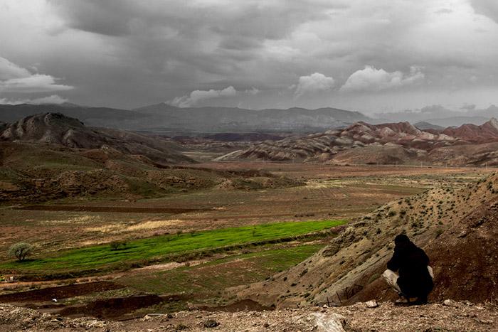 Landschaft rund um die Salzmine Douzlakh