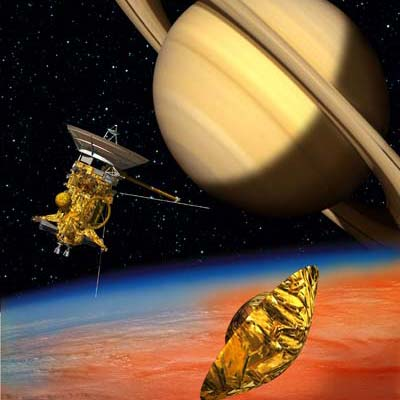Cassini und Huygens am Saturn