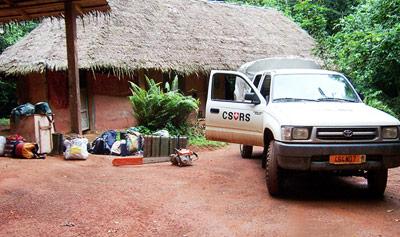 Die Forschungsstation im Taï-Nationalpark an der Elfenbeinküste