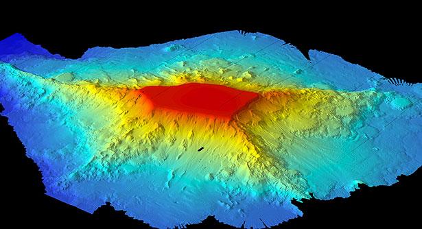 Seamounts können mehrere tausend Meter hoch sein. Diese Riesen liegen jedoch verborgen in den Tiefen der Meere.