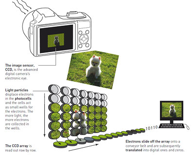 Funktionsprinzip des CCD-Sensors
