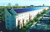 Reihenhaus mit Solardach