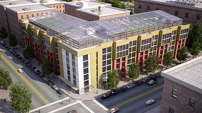 """Im Gebäudekomplex """"Blue Sea Developments"""" in New York City wird zurzeit ein Modell der integrierten Landwirtschaft umgesetzt."""