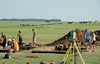Ol'gino, Ausgrabungen im Jahre 2010 mit deutschen und russischen Studenten