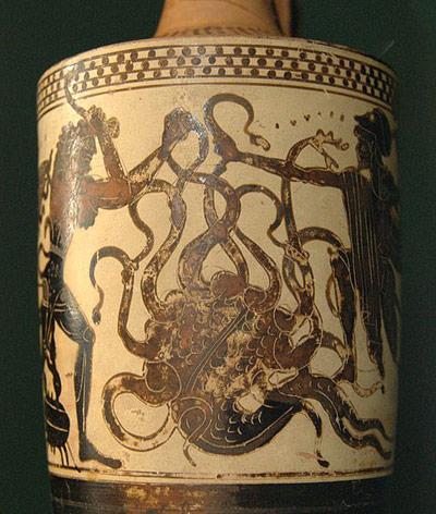 Die mythische, vielköpfige Seeschlange Hydra