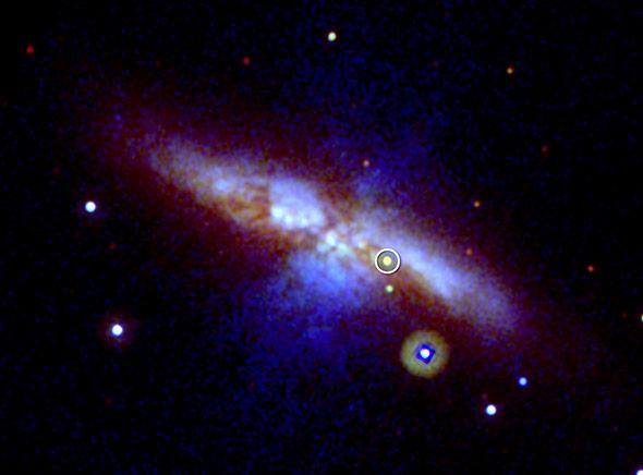 Galaxie M82 mit einer Supernova Typ 1a